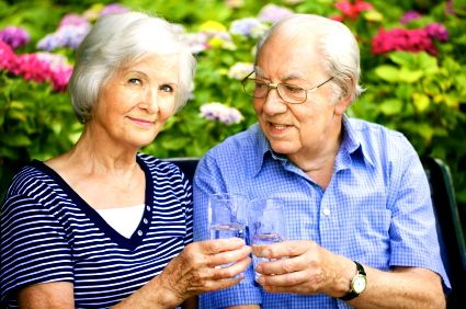 Senior Couple Thinking of Long Term Care Costs